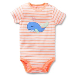 "Боди ""Applique whale"" Carter's"