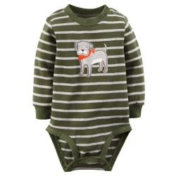 "Боди ""Olive stripe"" Carters"