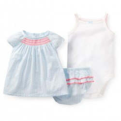 "Комплект 3в1 ""Woven diaper cover blue"" Carter's"